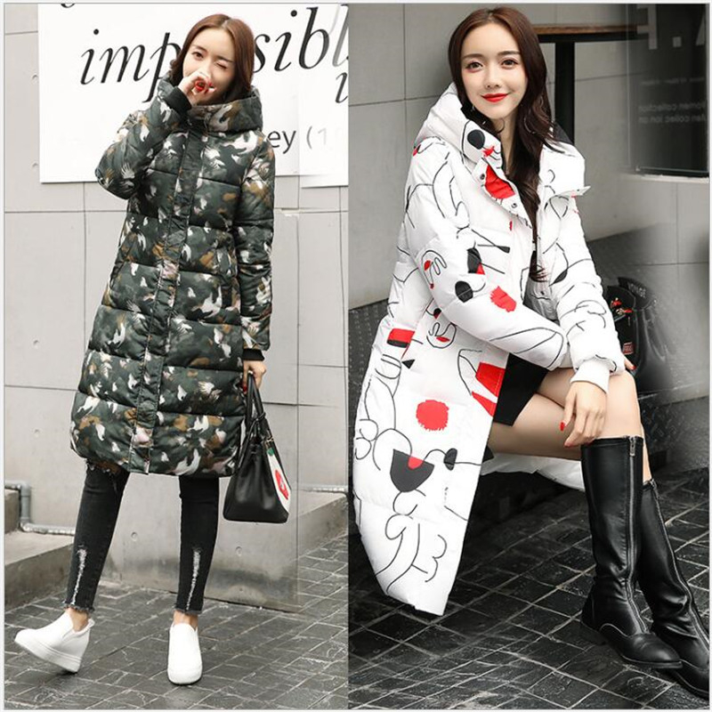 2019 New Long   Parkas   Female Women Winter Coat Thickening Cotton Winter Jacket Womens Outwear   Parkas   for Women R267