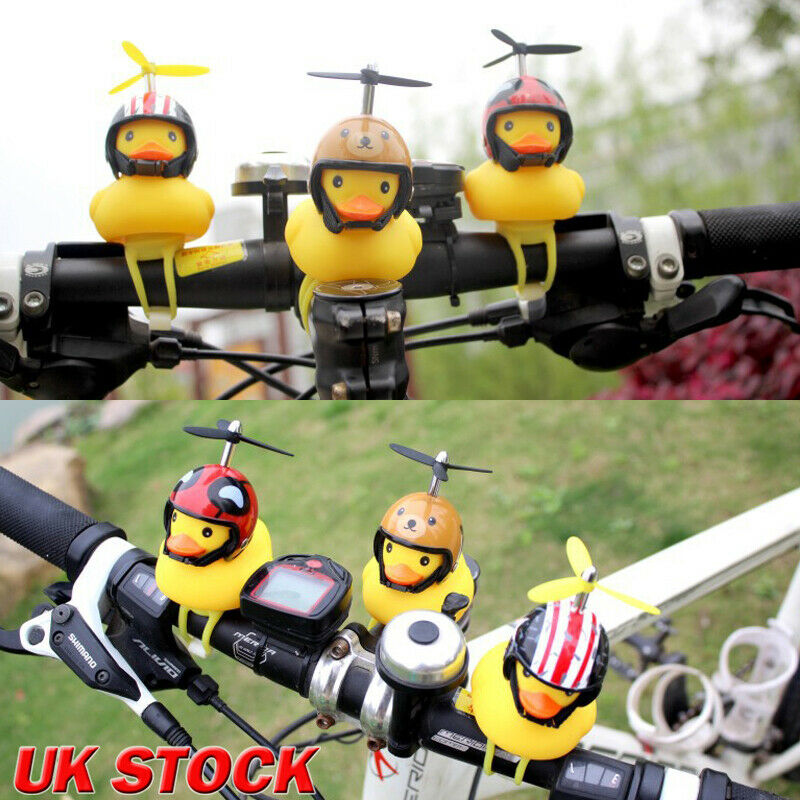 Yellow Duck Helmet Bicycle Bell Road Bike Moto Riding Light Cycling Accessories