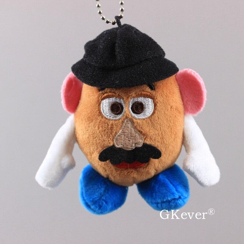 Kawaii Keychian Pendant Story Figure Mr Potato Head Woody Buzz Lightyear Plush Doll Toys Children Christmas Birthday Gift