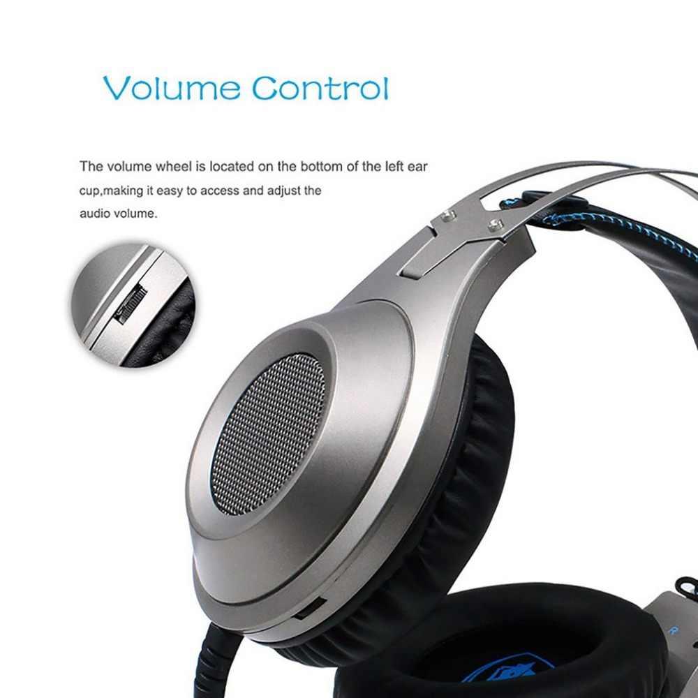 NUBWO N2 + الانارة الاهتزاز سماعة سماعة سماعة رأس ستيريو للألعاب ألعاب نتوء (غطاء) مع ميكروفون ل PS4 ل Xbox One