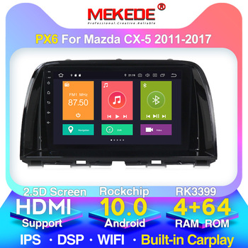 New system!PX6 8cores 4+64GB android 10 car radio player for Mazda Cx-5 cx5 cx 5 2011-2017 Built-in carplay WiFi 4G LTE navi image