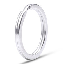 304 Real Stainless Steel Key Ring Flat Ring DIY Metal Accessories Dia 1.6/1.8/2.0mm Key Chain Key Holder Wholesale 10pcs стоимость