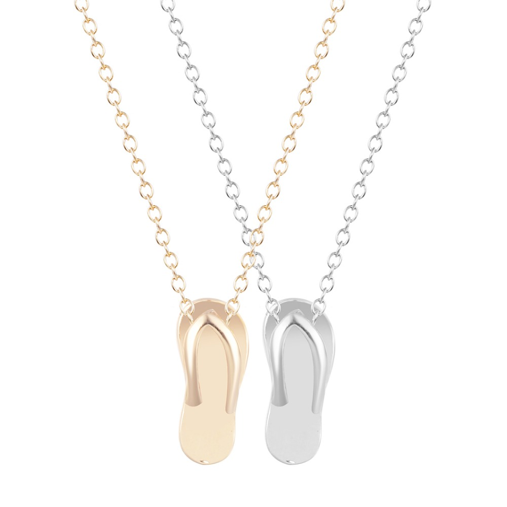 Collier bohème pour femmes, pantoufles dété, pendentif en forme, or, mode, bijoux simples, cadeau, vente directe, 2020