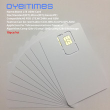 OYEITIMES 4G LTE תכנית ה SIM כרטיס USIM SIM כרטיס 128k LTE לתכנות USIM כרטיס ICCID IMSL ADM קי OPC OP עם COMP128/Milemage