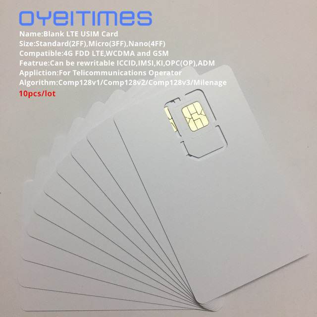 OYEITIMES 4G LTEโปรแกรมซิมการ์ดUSIMซิมการ์ด128K LTEโปรแกรมUSIM ICCID IMSL ADM KI OPC OPพร้อมCOMP128/Milemage