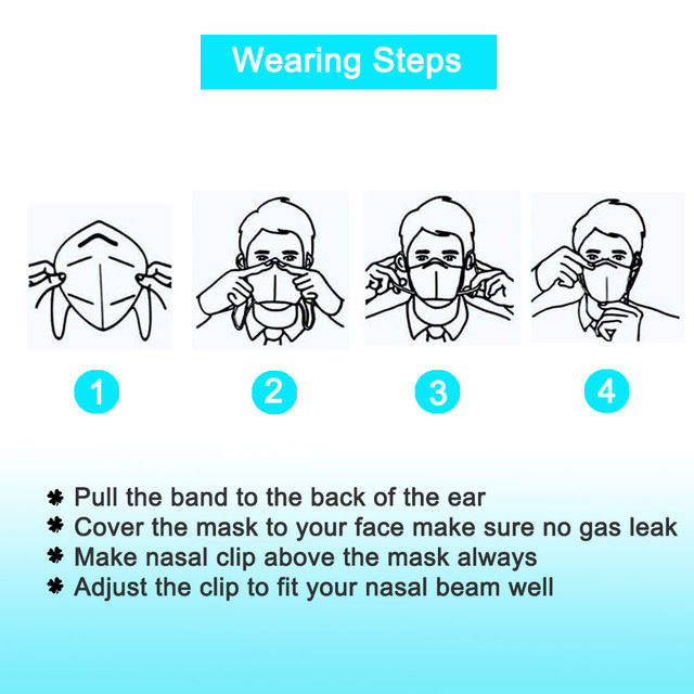 Reusable KN95 Mask Protective PM2.5 Filter Respirator Dustproof Masque Anti-Pollution Antibacterical Face Masks flu Mouth Caps 3