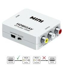 HDMI К AV конвертер Scaler адаптер композитный конвертер в RCA AV/CVSB L/R видео HD 1080P Mini HDMI2AV Поддержка NTSC PAL