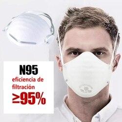 20 шт Складная маска для лица одноразовая, чтобы избежать пыли маска круглая маска велосипедная лицевая маска