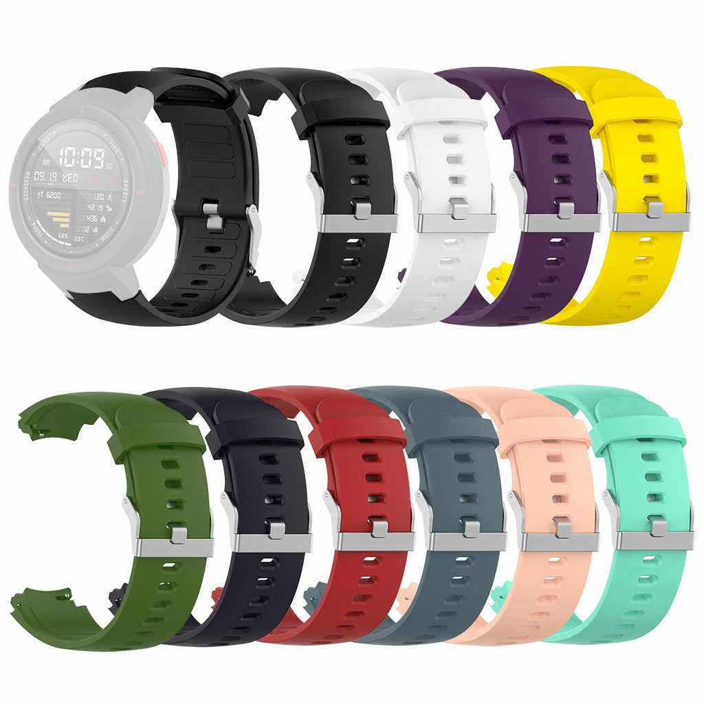 Smartwatch Smart Watch Bands Straps Sports Silicone Watch Band Bracelet Straps For Xiaomi Huami Amazfit Verge  Watches