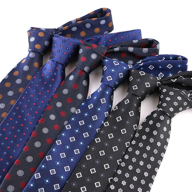 YISHLINE Fashion 7CM Mens tie Striped Dots Floral 1200 Needles Neck Ties For Neckwear bridegroom  Wedding Tie Skinny Blue RED
