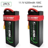 Bateria de gtfdr lipo 3 s 11.1 v 6200mah 100c 200c t deans xt60 ec5 hardcase para o caminhão de carro salash 1/8 1/10 carro buggy offroad truggy|Peças e Acessórios| |  -