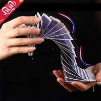 1Set Magie Elektrische Deck (verbindung durch unsichtbare gewinde) von Karten Streich Trick Prop Gag Poker Akrobatik Wasserfall Karte requisiten
