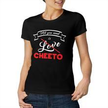 Tudo que você precisa é amor cheeto legal e engraçado manga curta casual moda algodão camiseta