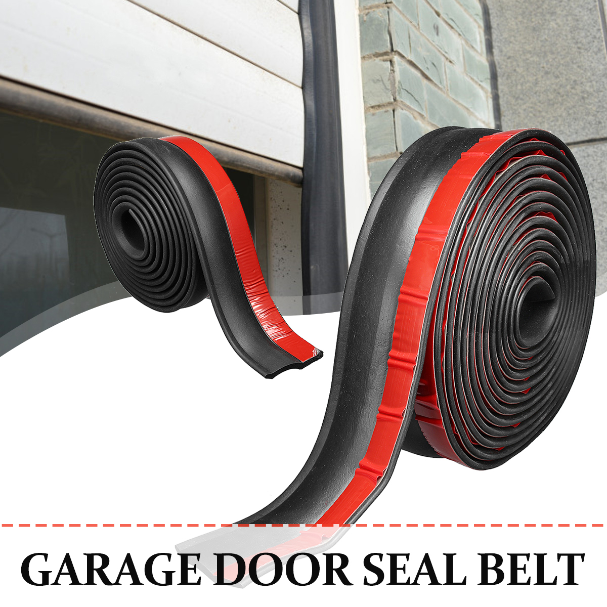 3 5 5 5m Garage Door Bottom Seal Weather Stripping Rubber Seal Strip Electric Door Bottom Water Smoke Noise Seal Bumper Strip Gaskets Aliexpress
