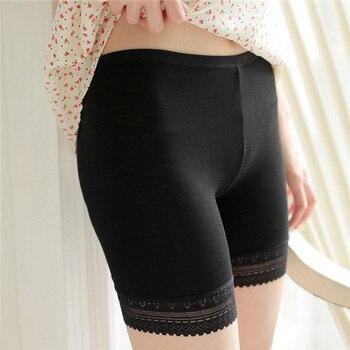 Las mujeres de talla grande Braga pantalón de protección elástica Anti rozaduras de pantalones cortos cómodos Anti-luz ropa íntima sin costuras Boyshorts para el verano