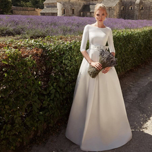 Verngo A-line Wedding Dress Elegant Vintage Bride Trouwjurk Simple Weeding Gowns Long  suknia slubna