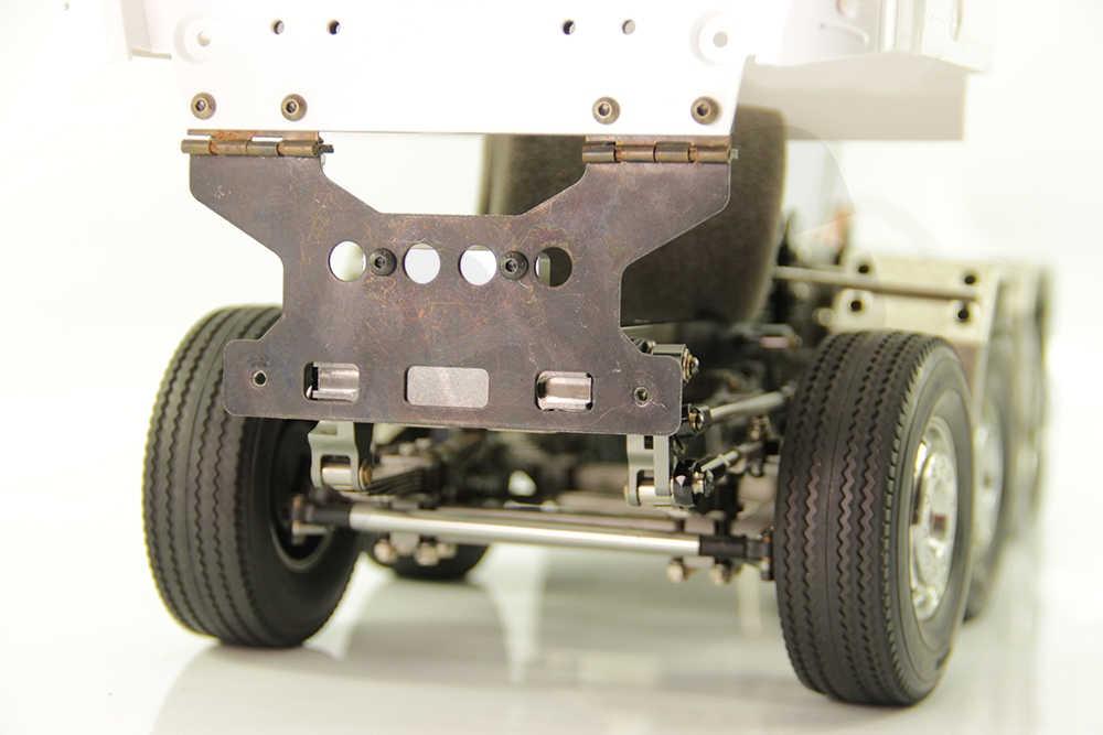 Cnc Metal Head Beam Dwarsbalk Body Shell Vaste Basis Voor 1/14 Tamiya Rc Truck Kipper Scania Actros Man Actros R470 r620 F16 Diy