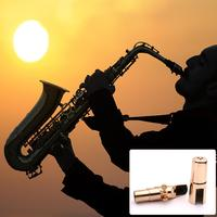 2019 High quality Professional Alto Saxophone Metal Mouthpiece gold Plated Mouthpiece Sax Mouth Pieces with Clip Set