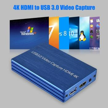ALLOYSEED 4K HDMI Naar USB 3.0 HDMI Video Capture Card Dongle 1080P 60FPS HD Video Recorder Game Streaming Live Stream Broadcast