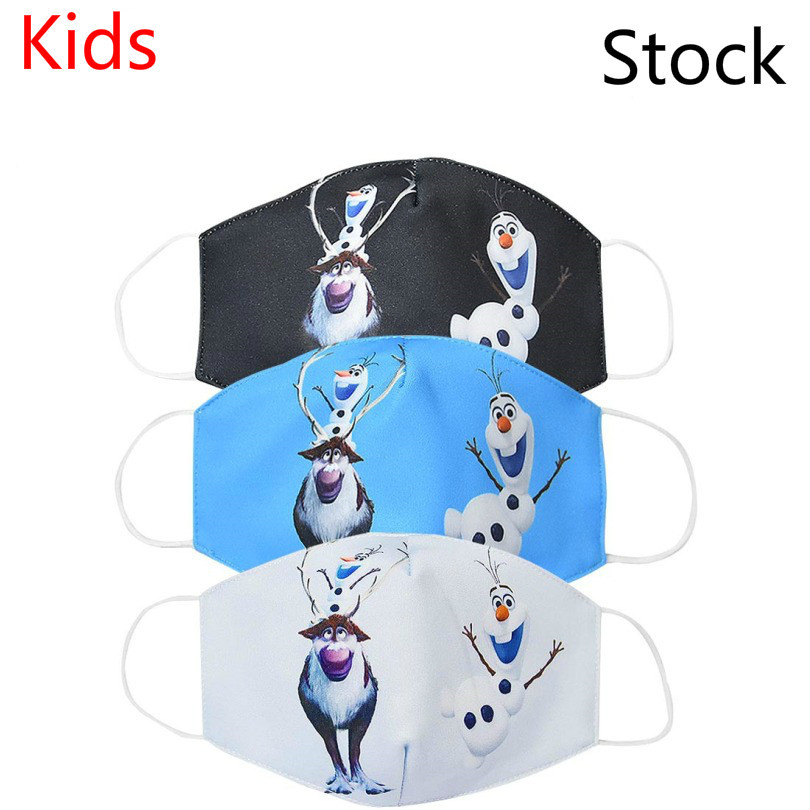 Anti Pollution Child Cartoon Olaf Sven Mask Dust Respirator Washable Reusable Masks Cotton Kids Mouth Muffle Allergy Anime Mask