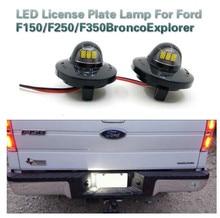 цена на BAFIRE 1 Pair LED License Plate Light Lamp for Ford F150 F250 F350 F450 F550 Super Duty Ranger Bronco Explorer Sport Lincoln
