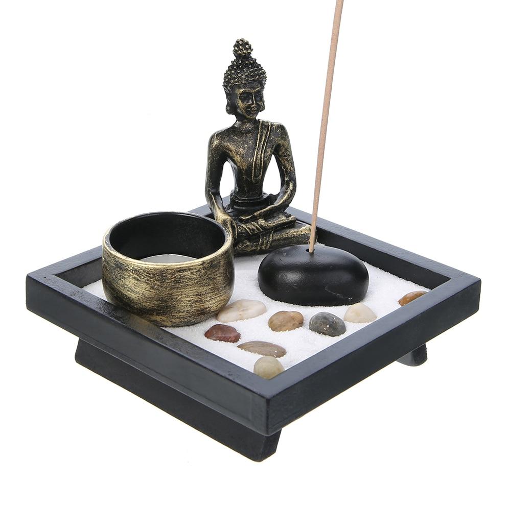 Buddha Zen Garden Sand Kit Yoga Meditation Relax Spiritural Decor Buddha Tealight Incense Holder Craft Ornament Gift Home Decor Party Diy Decorations Aliexpress