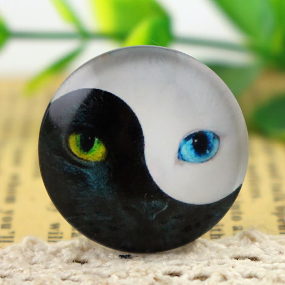 New Fashion  5pcs/Lot 25mm Handmade Photo Glass Cabochons Cat F5-16