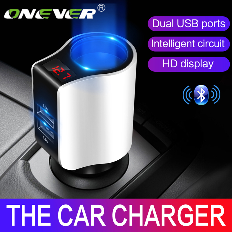 Dual USB Car Charger Adapter 3.1A Digital LED Voltage Display Car Cigarette Lighter Socket Splitter Car Charger For Phone Tablet