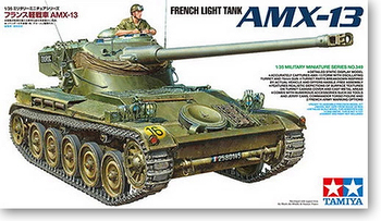 Tamiya 35349 1/35 French Light Tank AMX-13 Display Collectible Toy Plastic Assembly Building Model Kit