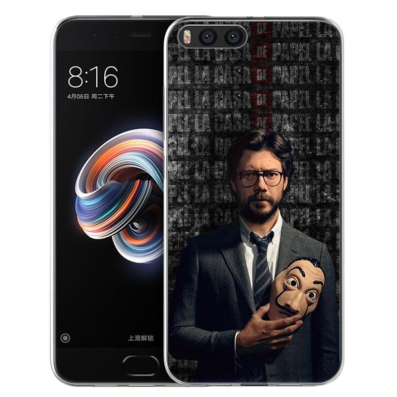 Money Heist House of Paper TV Series Phone Case For Xiaomi Mi A1 6x A2 5x mix3 Max2 Black Shark 3 2 Redmi 10x GO Y2 S2 Note 5 4