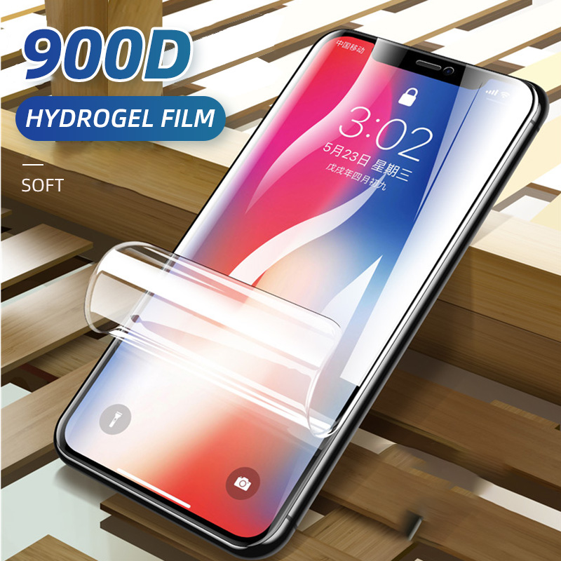 900D Hydrogel Film For IPhone 11 7 8 6 6s Plus 5 5S SE Screen Protector IPhone X XS XR 11 Pro Max Soft Protective Film Not Glass