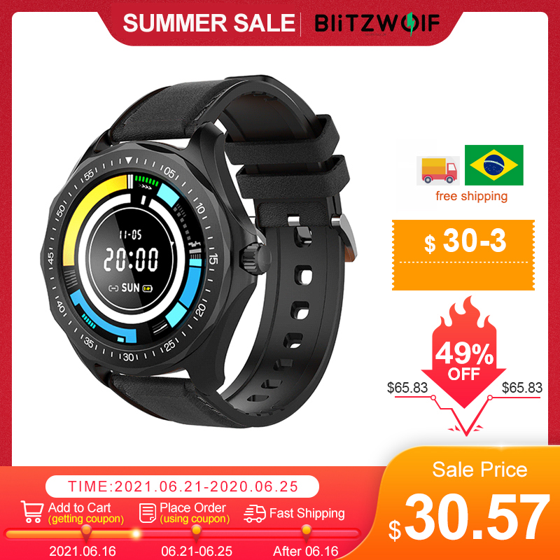 BlitzWolf BW-HL3 Smart Watch Men Women's Smartwatches Heart Rate Blood Pressure bluetooth Fitness Wristwatch Sport Smartwatch