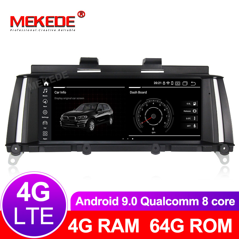 8 cores 4G+64G android 9.0 Car Multimedia player Autoradio fit for <font><b>BMW</b></font> X3 F25/<font><b>X4</b></font> F26 2011-2017 CIC NBT gps navigation radio 4G image