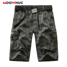 Trousers Plaid New Summer Hombre Shorts Pants Pockets Knee length Fit MOOWNUC Fashion Male 2020 Solid Street Dress Casual  Mens plaid knee length casual mens shorts