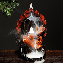 New Backflow Incense Burner Ceramic Creative Lotus Bergamot Aromatherapy Home Interior Viewing Ornamental Aromatic Furnace