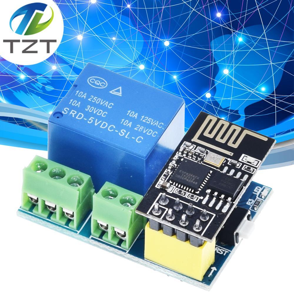 ESP8266 5 в Wi-Fi релейный модуль, умный дом, пульт дистанционного управления, переключатель для телефона Arduino, приложение ESP01S, беспроводной Wi-Fi мод...