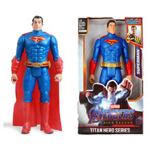 12///30cm marvel vingadores brinquedos superman flash spiderman hulk aquaman figura de ação modelo para crianças birithday presentes de natal