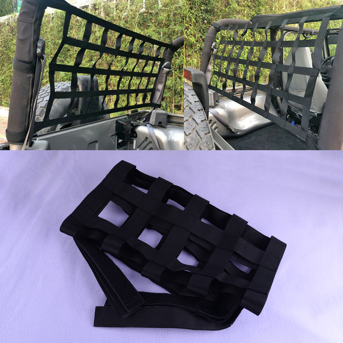 CITALL apto para Jeep Wrangler JK TJ 1997-2012, 2013, 2014, 2015, 2016, 2017 negro ventana Extra para carga de techo neto hamaca de almacenamiento Modelo a escala de 5 uds material de construcción techos de láminas de PVC en tamaño 210x300mm para diseño de la arquitectura