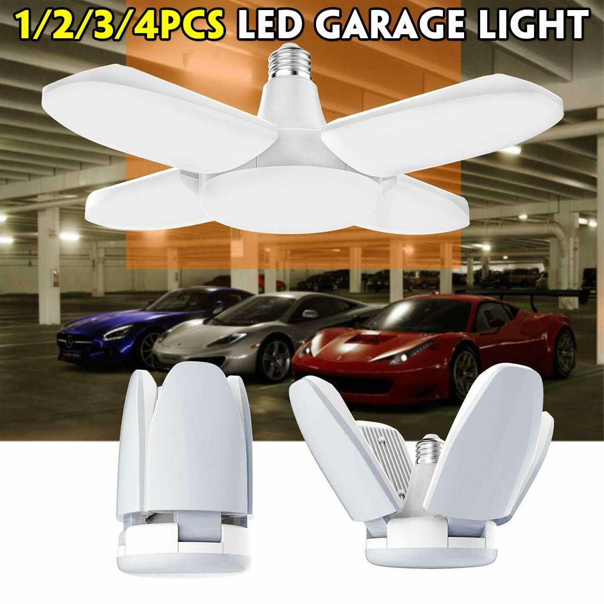 156Pcs 60W 5600LM Led Deformable Garage Light E27 85-265V Ceiling Light For Garage/Attic/ Basement/Home LED Lamp