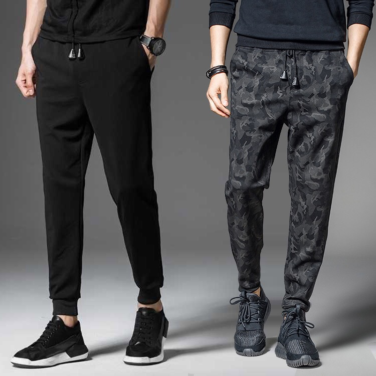 Summer And Spring Pants MEN'S Trousers Camouflage Beam Leg Harem Pants Brushed And Thick Loose-Fit Skinny Pants Sports MEN'S Cas