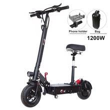 FLJ – Trottinette électrique SK1 pour adulte, dame et étudiant,nouveau modèle avec agent d'entraînement, 1200W, 80-120 km,