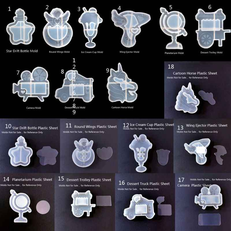 جديد اليدوية الرمال المتحركة قلادة الآيس كريم ستار الانجراف زجاجة كاميرا الحلوى راتنجات الايبوكسي قالب من السيليكون أدوات صنع المجوهرات