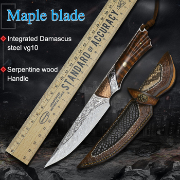 Damascus steel VG10 steel  Tools  Camping Hunting Straight Knife  Outdoor Tools Tactical Self-defense Tools Knives Handmade Fixe damascus steel outdoor tactical straight knife boutique collection knife high hardness self defense straight knife