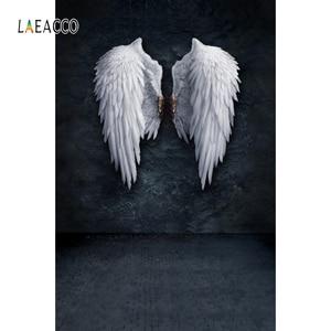 Image 2 - Laeacco ange diable ailes nuages nouveau né photographie décors vinyle Photo arrière plans anniversaire Photophone bébé douche Photocall