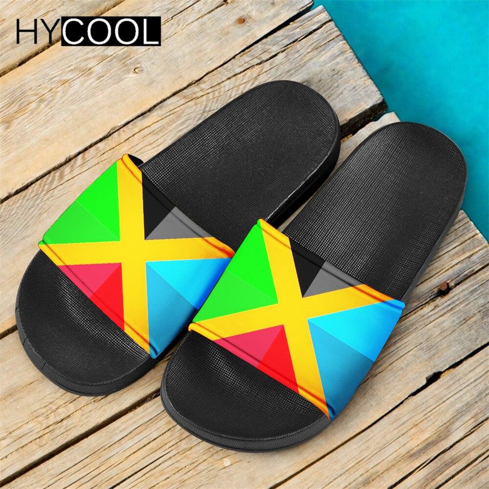 HYCOOL Fashion Unisex Summer Slippers Rainbow Gay Pride Flag Printing Home Outdoor Slide Sandals Beachwear Women Men Flip Flops