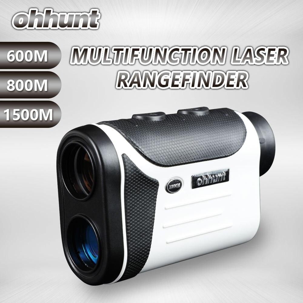Ohhunt wielofunkcyjna optyka myśliwska dalmierze laserowe 8X 600M 800M 1500M monokularowy dalmierz golfowy miernik odległości