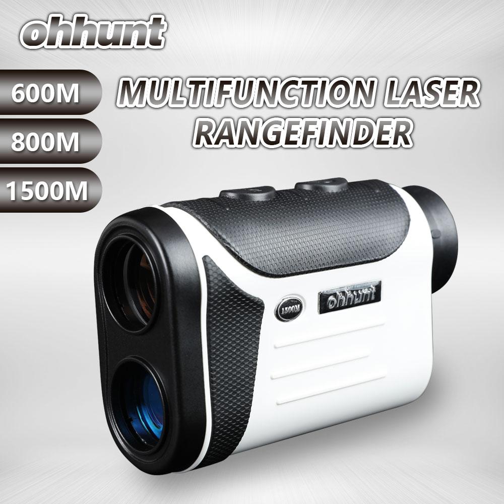 Ohhunt Multifunction Hunting Optics Laser Rangefinders 8X 600M 800M 1500M Monocular Outdoor Golf Range Finder Distance Meter