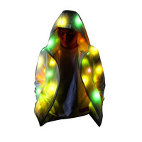 Men Women Glowing Party Clothes Indoor Outdoor Fashionable Flashing Jacket Coat Sport Outwear PI669
