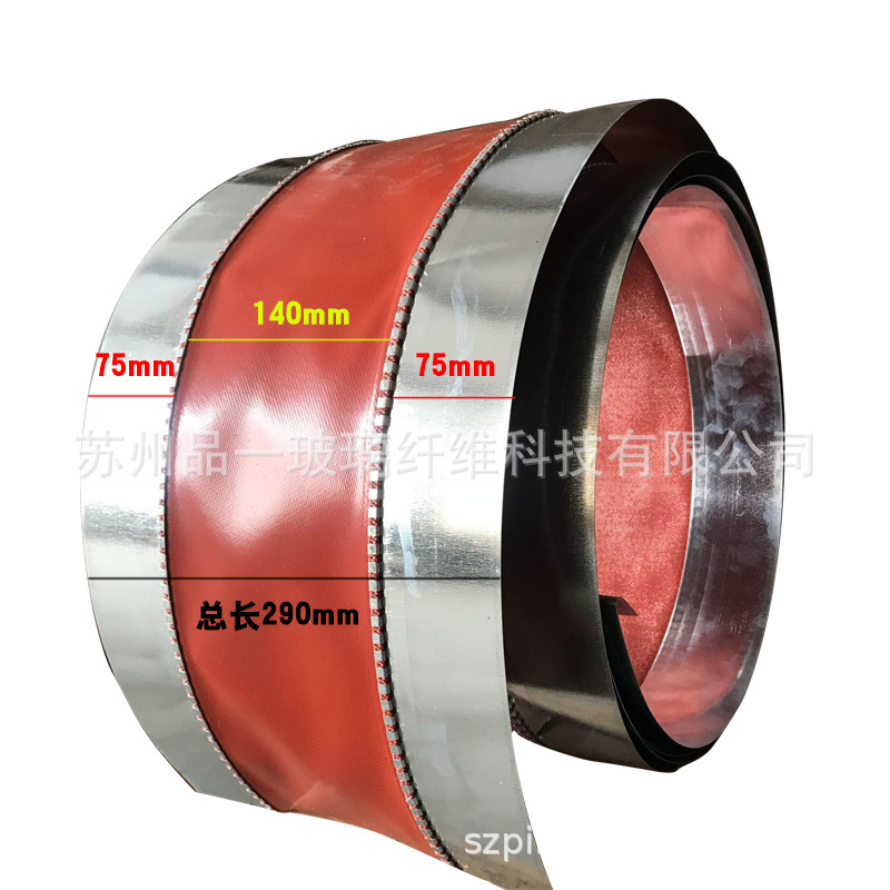 Suzhou Manufacturers Fire Prevention Canvas Soft Connection White Metal Stainless Steel Machine-made Flange Ventilation Pipeline