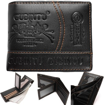2020 100% Genuine Leather Rfid Wallet Men Crazy Horse Wallets Coin Purse Short Male Money Bag Mini Walet High Quality Boys image